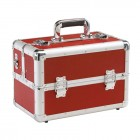 Kadeřnický kufr Leisure červený