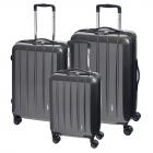 Cestovní kufry sada Check.In London 3dílná Carbon TSA